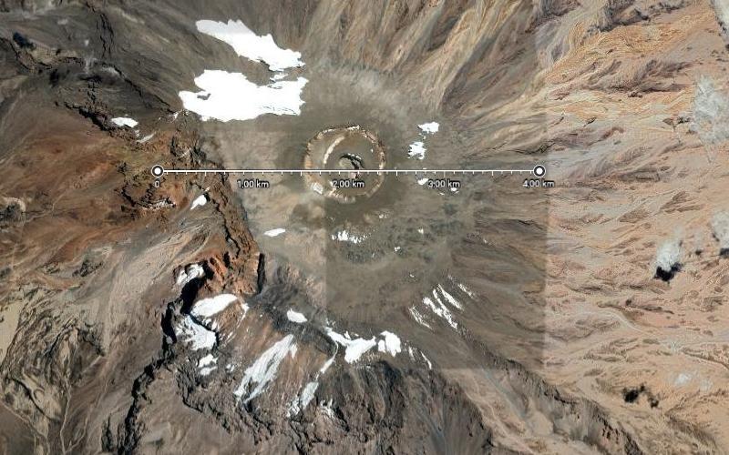 2018 - Die Kilimanjaro-Gletscher in Google-Maps